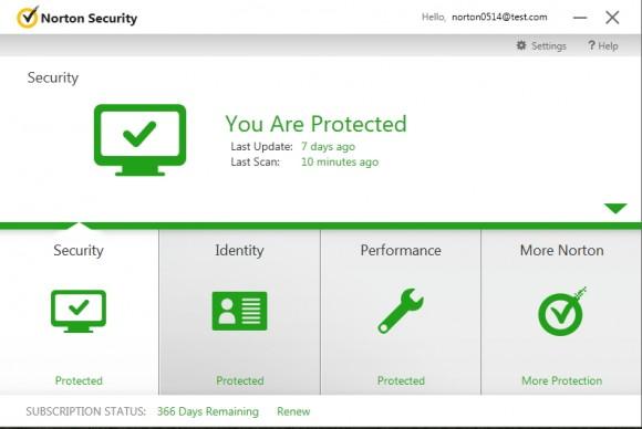 Norton Security vereint mehrere Norton-Produkte- und Funktionen in einem Dienst (Bild: Symantec).