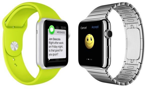 Apple Watch Sport (links) und Apple Watch Standard (Bild: Apple)