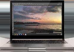 Adobe und Google bieten eine Streaming-Version von Photoshop an, die auf Chromebooks ausgeführt werden kann (Bild: Google).