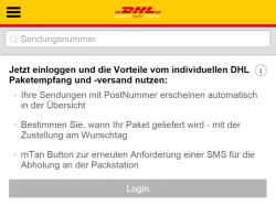 Durch einen technischen Fehler in der Mobilseite zur Sendungsverfolgung waren vergangenen Mittwoch Kundendaten stundenlang online einsehbar (Screenshot: ZDNet.de).
