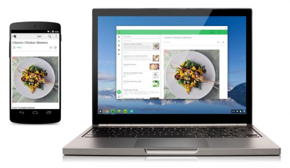 Die Evernote-App lässt sich jetzt auch auf einem Chromebook nutzen (Bild: Google).