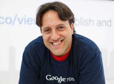 Google-Views-Produktmanager Evan Rapoport (Bild: Stephen Shankland/CNET)