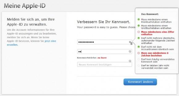 Apple ID: Passwort-Spec