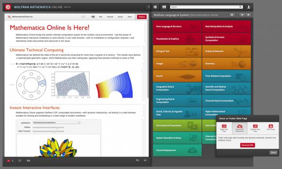 Mathematica Online läuft direkt im Webbrowser (Bild: Wolfram Research).