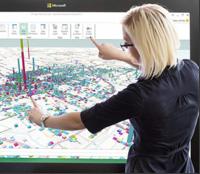 PPI-Großbildschirm (Bild: Microsoft)