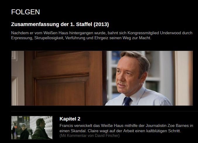 """Netflix: """"House of Cards"""""""