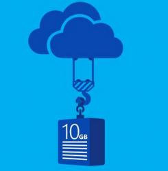 OneDrive unterstützt jetzt ein Dateigrößenlimit von 10 GByte (Bild: Microsoft).