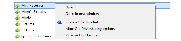 Sharing-Links zu in OneDrive abgelegten Dateien lassen sich unter Windows 7 und 8 nun direkt im Windows Explorer erstellen.