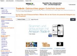 Das Trade-in-Programm wurde um den Elektronik-Bereich erweitert (Screenshot: CNET.de)
