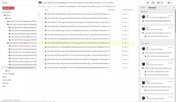 CloudSync: auf GoogleDrive verschlüsseltes Backup (Bild: Holger Hees)