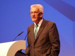 Winfried Kretschmann, Ministerpräsident des Landes Baden-Württemberg, sprach als Gastredner auf der Microsoft-Partnerveranstaltung in Mannheim (Bild: Markus Strehlitz).