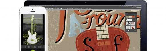 Nutzer können in den Creative Cloud Libraries Farben, Pinsel, Texturen und Vektorbilder speichern und mit ihren Computern oder mobilen Apps darauf zugreifen (Bild: Adobe).