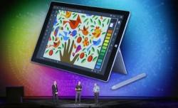 Auf der MAX gab es eine Illustrator-Version auf dem Surface Pro 3 zu sehen (Screenshot: Stephen Shankland/CNET).