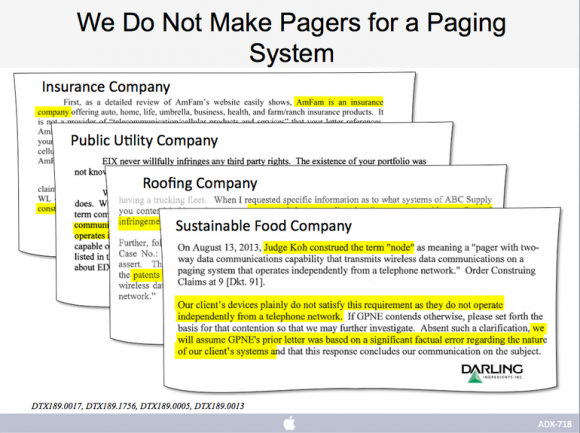 Apple hatte in dem Prozess argumentiert, dass sich GPNEs Patente nur auf Pager, und nicht auf Smartphones und Tablets beziehen (Bild: Apple).