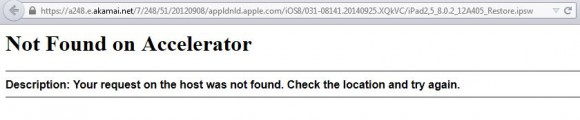 Fehlermeldung Akamai: iOS-Download
