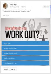 Beispiel für eine Umfrage in Google+ (Bild: Google)