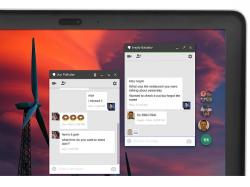 Die Hangouts Chrome App erlaubt Chats außerhalb des Browsers (Bild: Google).