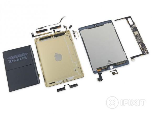 iFixit hat das iPad Air 2 zerlegt (Bild: iFixit).