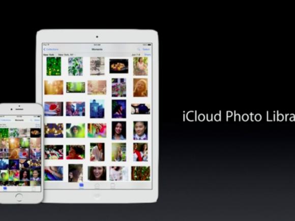 Die iCloud Photo Library bietet Nutzern von iOS 8.1 Zugriff auf ihre in iCloud gespeicherten Fotos und Videos (Bild: Apple).