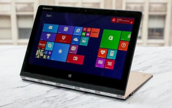 Das Yoga 3 Pro verfügt über eine 13,3-Zoll-Display mit 3200 mal 1800 Pixeln Auflösung (Bild: Sarah Tew/CNET).
