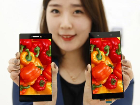 Der Rahmen des neuen LG-Bildschirms ist lediglich 0,7 Millimeter dick (Bild: LG Display).