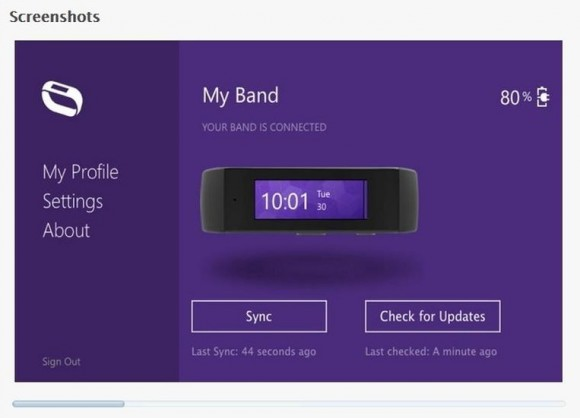 Mac-App für Microsofts Fitnesstracker Band (Screenshot: News.com)