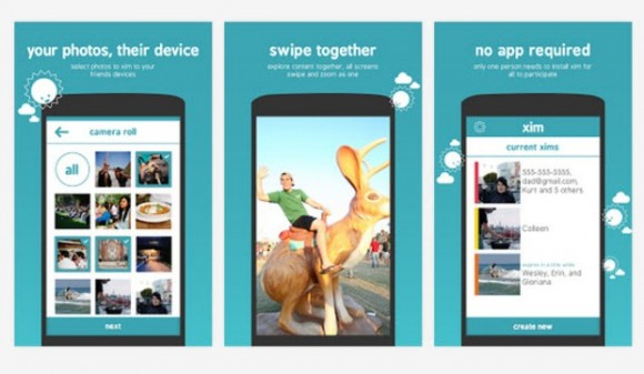 Mit der von Microsofts FUSE Labs entwickelten App Xim können Nutzer bis zu 50 Fotos gleichzeitig an Freunde und Bekannte weiterleiten (Bild: Microsoft).