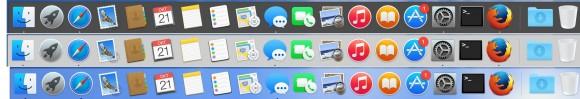 """OS X Yosemite: Das Dock lässt sich in Sachen aussehen nicht nur durch die Transparenzeinstellungen beeinflussen. Unter Systemeinstellungen - Allgemein lässt es sich wie die Menüleiste mit der Option """"Dunkle Menüleiste und Dock verwenden"""" abdunkeln (Screenshot ZDNet.de)"""