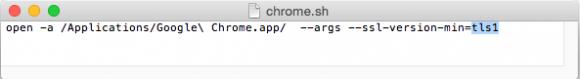Shell-Script für Start von Chrome unter OS X (Bild: ZDNet.de)
