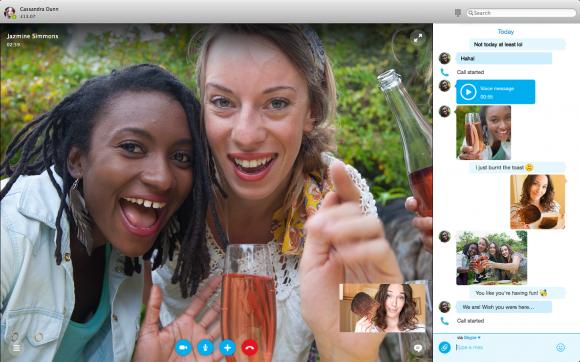 Mehr Multitasking mit Skype für Mac 7.0 (Bild: Microsoft)