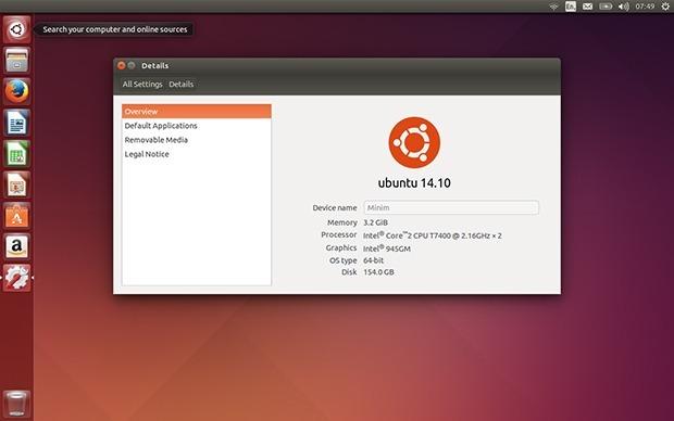 Ubuntu 14.10 bringt einen verbesserten Unity-Desktop, aber die größten Neuerungen gibt es bei den Server- und Cloud-Funktionen (Bild: ZDNet.com).