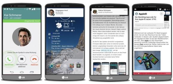 Heads-up-Notification in Android 5.0 Lollipop (Bild: ZDNet.de)