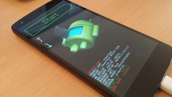 Nexus 5 Bootloader (Bild: ZDNet.de)