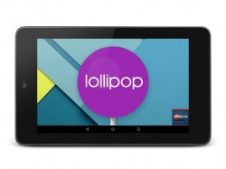 Android 5.0 Lollipop auf Nexus 7 (Bild: ZDNet.de)
