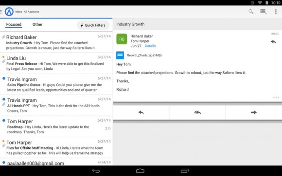Acompli for Android (Screenshot: via Google Play)