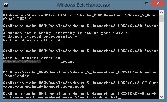 CF-Auto-Root: Root-Prozess starten (Screenshot: ZDNet.de)