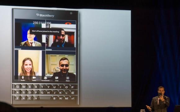 BBM Meetings ermöglicht neben Videokonferenzen auch den Austausch von Dateien (Bild: Nate Ralph/CNET).
