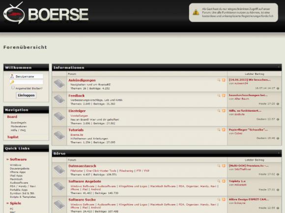 Aktuell ist boerse.bz noch erreichbar (Screenshot: ZDNet.de).