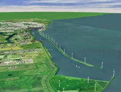 Eneco-Windpark in Delfzijl (Bild: Google)