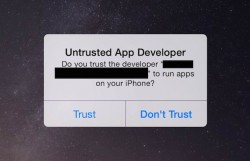 iOS-Warnmeldung zu Masque Attack (Bild: FireEye).