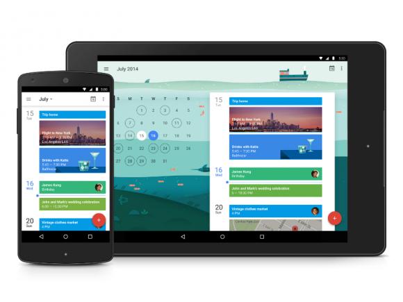 Google hat Optik und Funktionen seiner Kalender-App überarbeitet (Bild: Google).