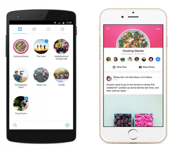 Facebook Groups bietet Nutzern nach dem Start eine Übersicht über alle ihre Gruppen (Bild: Facebook).