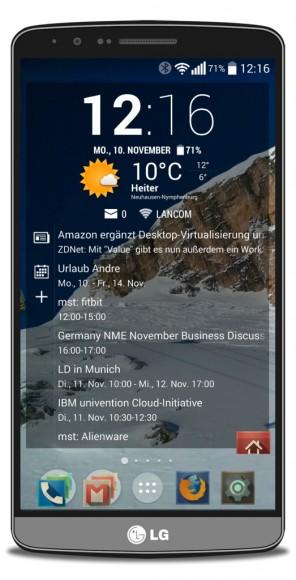 Für das G3 hat LG die Aktualisierung auf Android 5.0 Lollipop noch für diese Woche angekündigt (Bild: ZDNet.de)