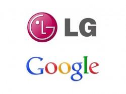 Logos von LG und Google