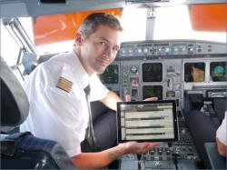 Lufthansa-Pilot mit Surface Pro 3 (Bild: Microsoft)