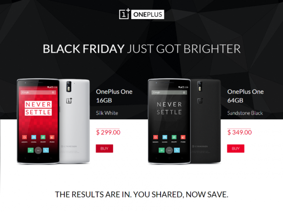 Black-Friday-Angebot des OnePlus One (Screenshot: ZDNet.de)
