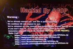 Hacker-Drohung auf den Bildschirmen der SPE-Mitarbeiter (Screenshot: ZDNet.de)