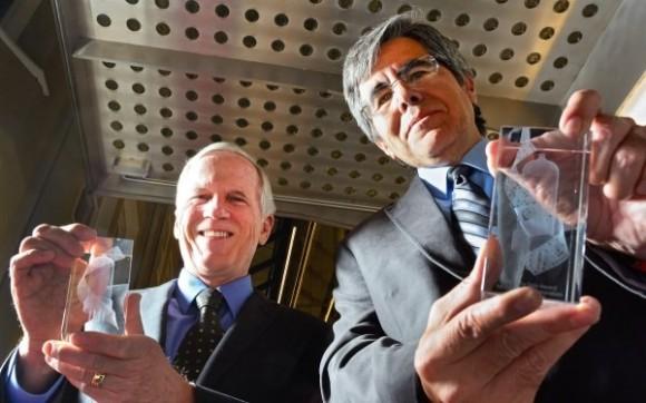 Gewinner des Tony Sale Award 2014: Robert B. Garner (links) und Raul Rojas von der FU Berlin (Bild: CCS)