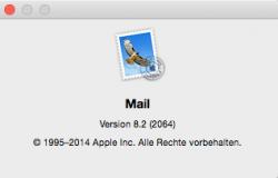 Apple Mail 8.2 (2064) (Screenshot: ZDNet.de)