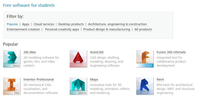 Prime Autodesk Macht Seine Software Fur Schuler Und Studenten Download Free Architecture Designs Embacsunscenecom